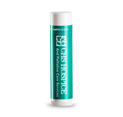 Chap Ice Green Tea SPF 15 Lip Balm with a custom label