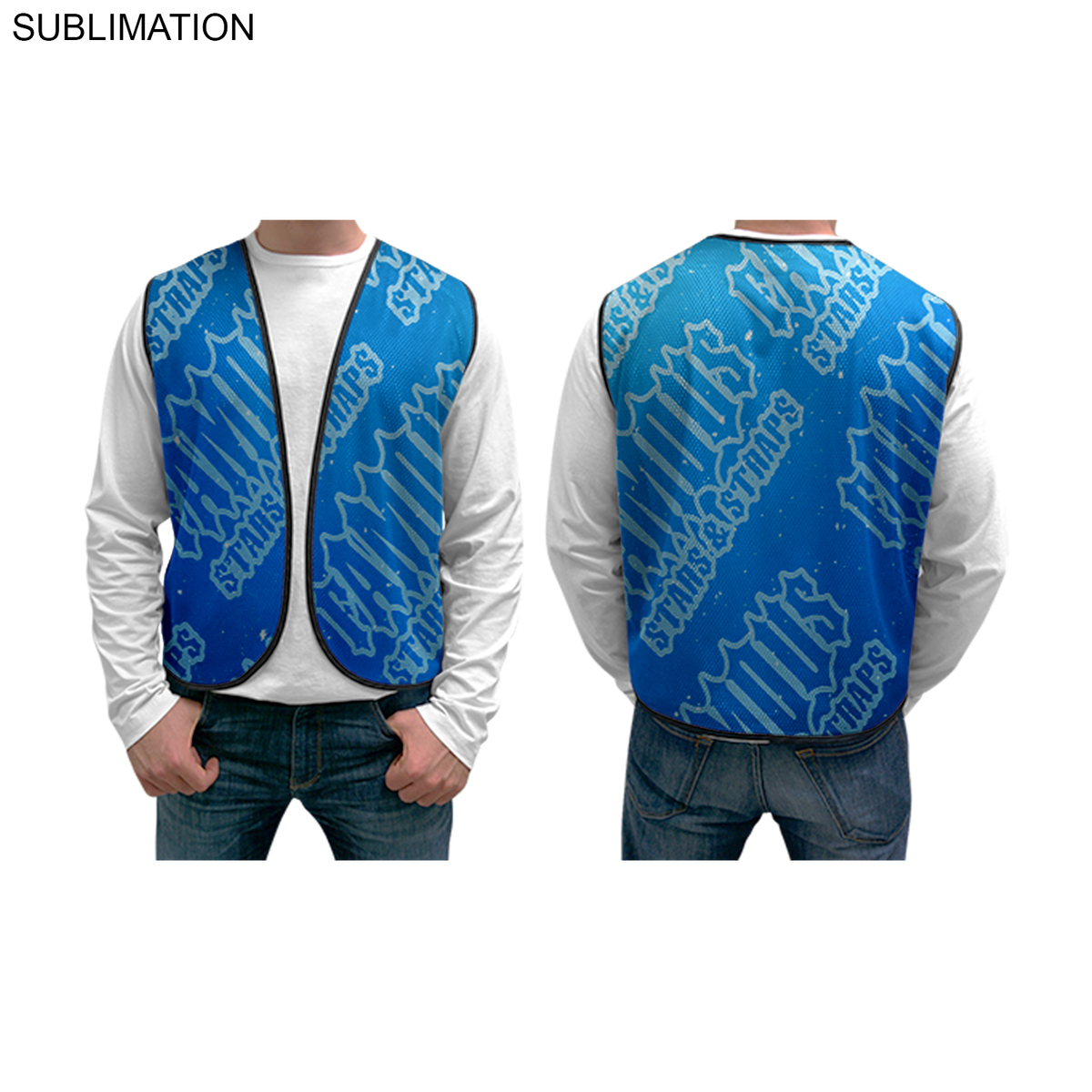Sublimated or Blank Mesh Vest