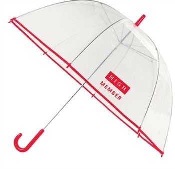 47 Inch Clear Bubble Umbrella with Hook Handle SALE