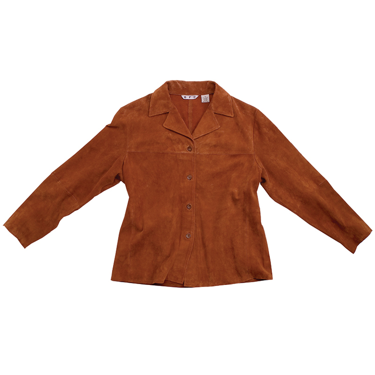 Women's Long Sleeve Italian Suede Leather Jacket