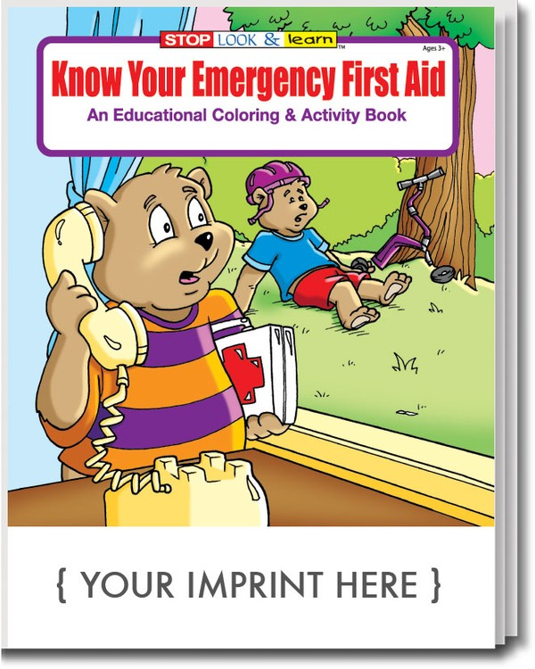 COLORING BOOK - Know Your Emergency First Aid Coloring & Activity Book