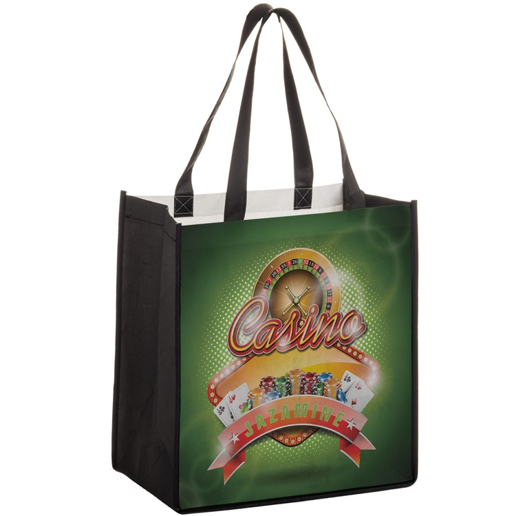 Dye Sublimated P.E.T. Grocery Bag