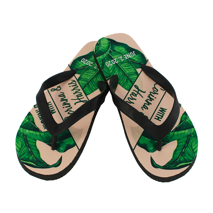 The Riviera - Premium Rubber Flip Flops with Natural Rubber Straps