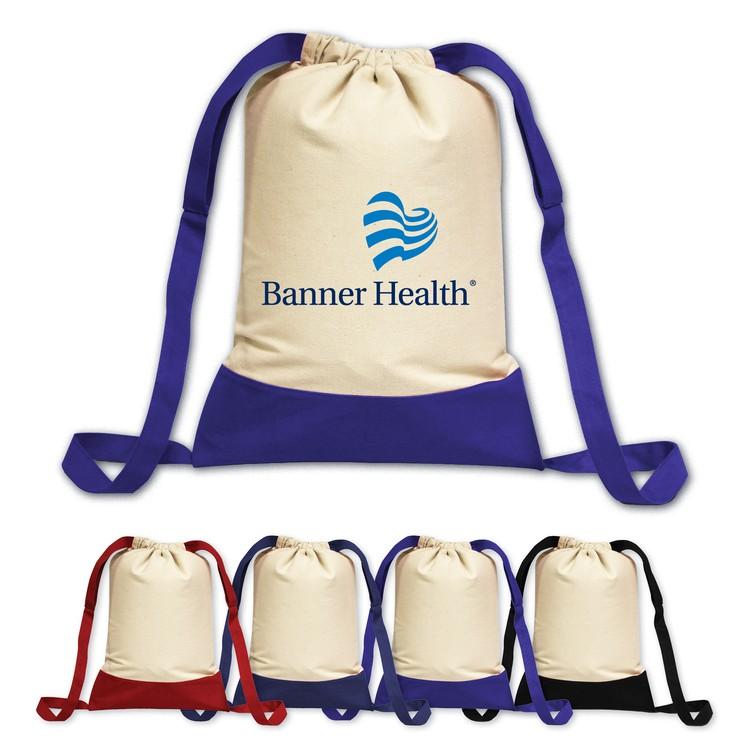 Brand Gear™Laguna Beach Cotton Canvas Backpack ™
