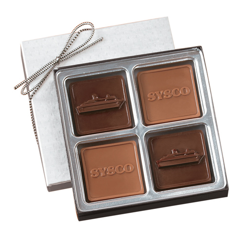 2.5 oz Custom Chocolate Squares Gift Box