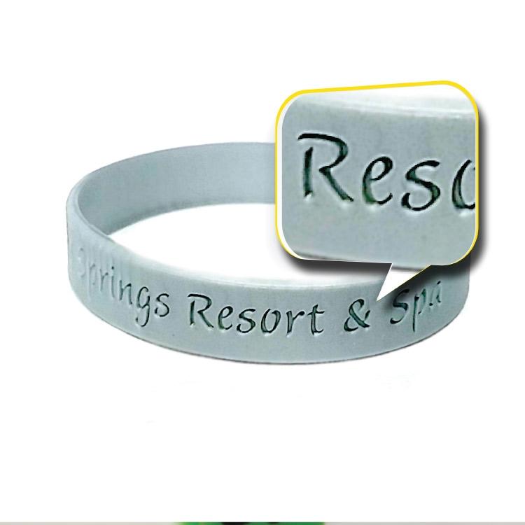 12mm CUSTOM Silicone Deboss Wristbands