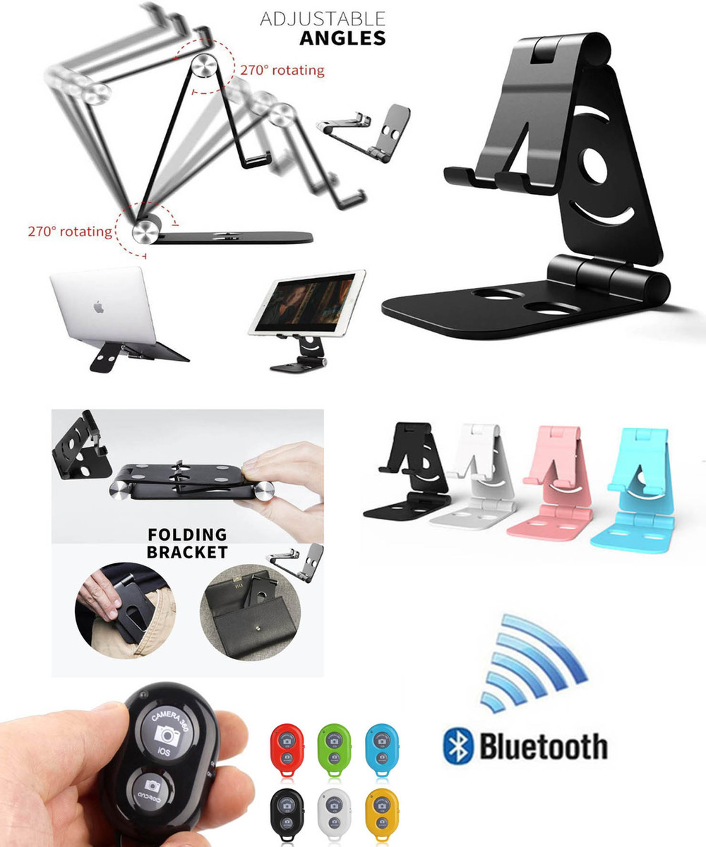 iBank® Universal Smartphone / Tablet Stand + Bluetooth Remote Shutter