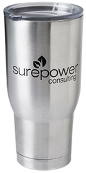 32 oz. Stainless Steel, Double Walled, Vacuum Insulated with Copper Lining Pro Travel Tumbler