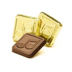 Dark Chocolate Music Note Square