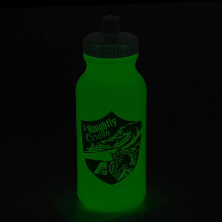 20oz. Glow In The Dark Bike Bottle
