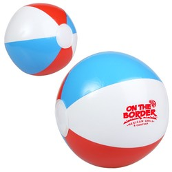 10 Red, White and Blue Beach Ball