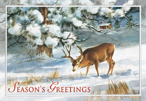 Winter's Solitude Greeting Card