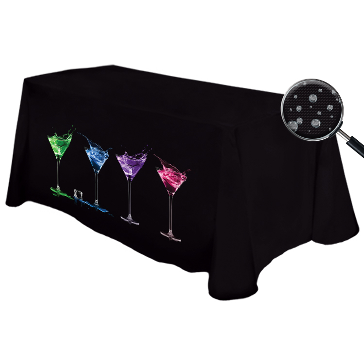 Digital Liquid Repellent 8' Table Throw @ 42H - Counter Height