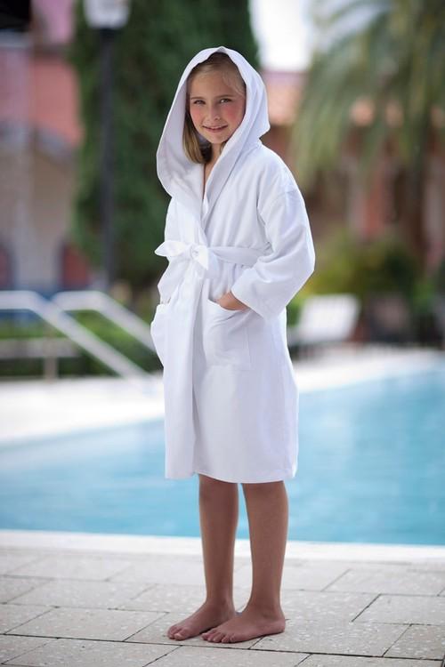 Kids Hooded Terry Bath Robe