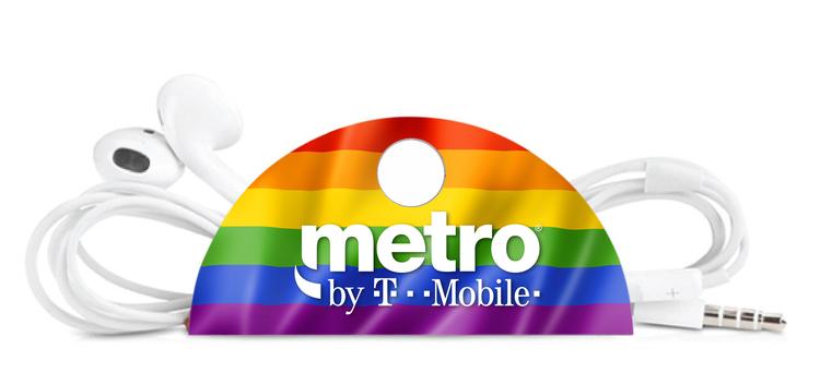 Rainbow Pride Taco Tech Cord Organizer with Button