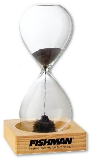 Desktop Magnetic Sand Timer/Hourglass with Wooden Base