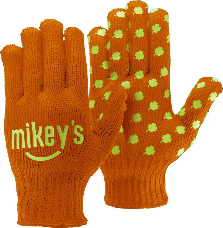 Orange Knit Gloves w/Step & Repeat Imprint