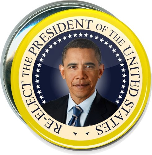 Obama, Re-elect the President, Political Button