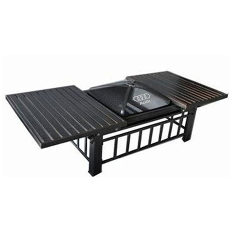 STEEL SLIDING FIRE PIT TABLE