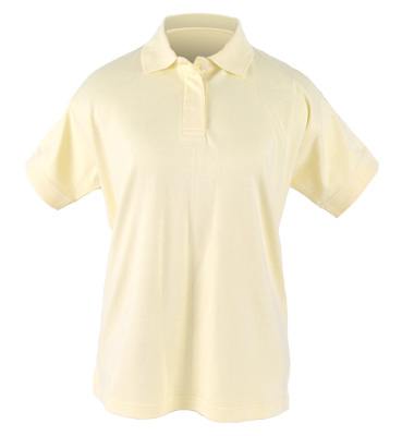 Women's Short Sleeve Sueded Interlock Polo Golf Shirt