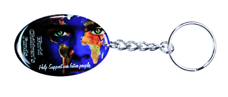 Key Chain / Tag, custom single sided imprint from 3.1 - 4 Sq. In.