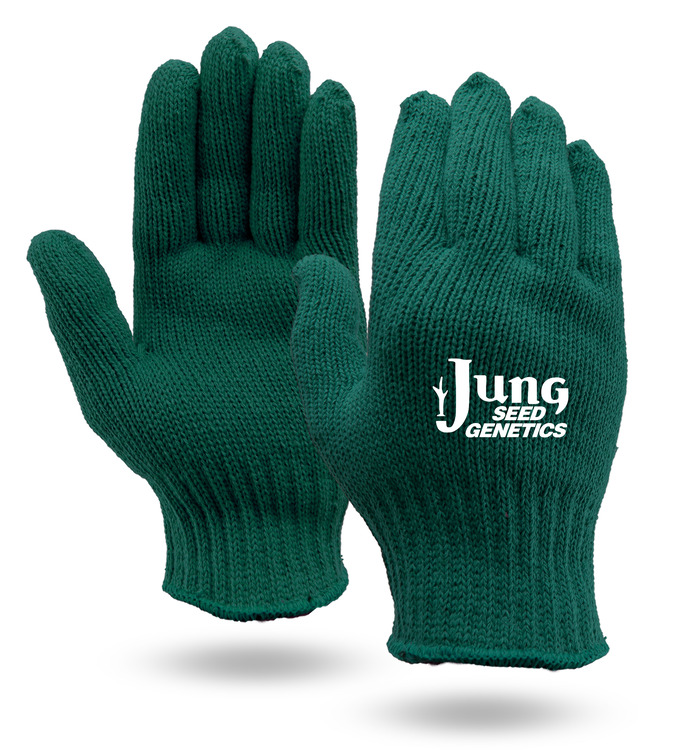 Green Knit Gloves