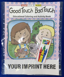 COLORING SET - Good Touch Bad Touch Coloring Book Fun Pack - Coloring Book Fun Pack