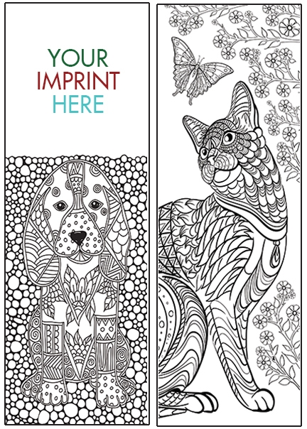 COLORING BOOKMARK - Animals Bookmark - BM-2115 | unlimited imprints1