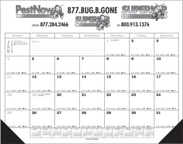 Jumbo Desk Pad Calendar with 12 Month Calendar Desk Pad
