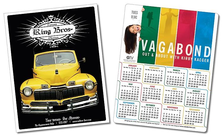 Tarjeta laminada - calendario 8.5x11, horario o carta