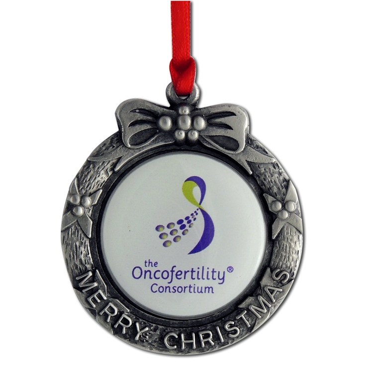 Merry Christmas Pewter Ornament