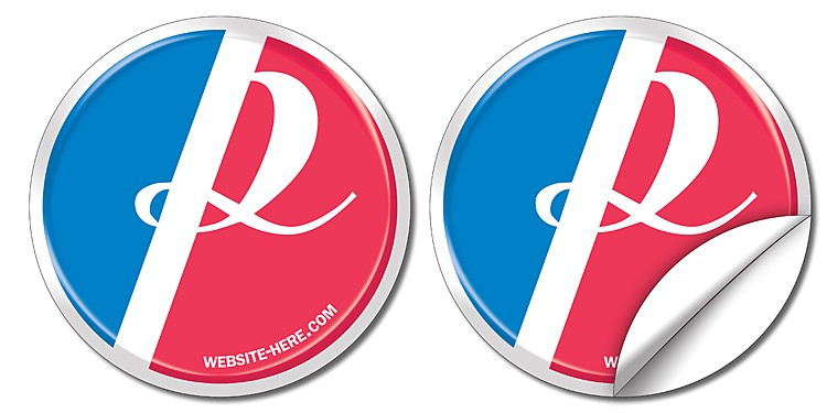Sticker / Decal - UV-Coated Vinyl - 3.875 Inch Circle Shape
