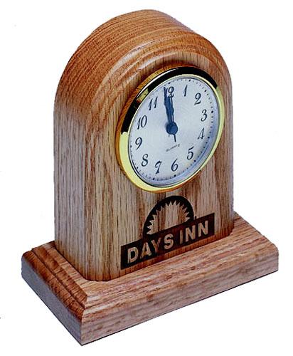 Solid Hardwood Desk or Mantle Clock - USA