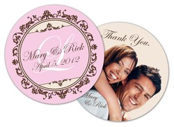 Wedding Drink Coaster - 3.75 Inch Diameter Circle - 18 pt. Paperboard