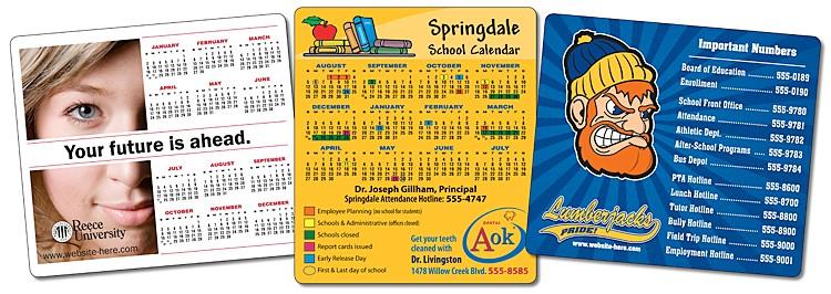 School Calendar Magnet - 3.5x4 Round Corners - 25 mil.