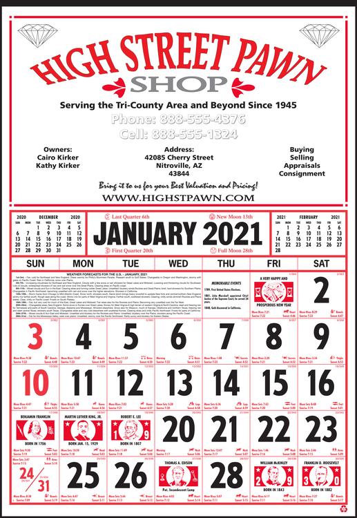 Style 55 12-Sheet Calendar