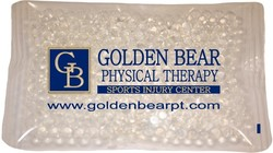 4.5 x 6 Clear, Gel Beads Cold/Hot Therapy Pack with up to a four color process imprint