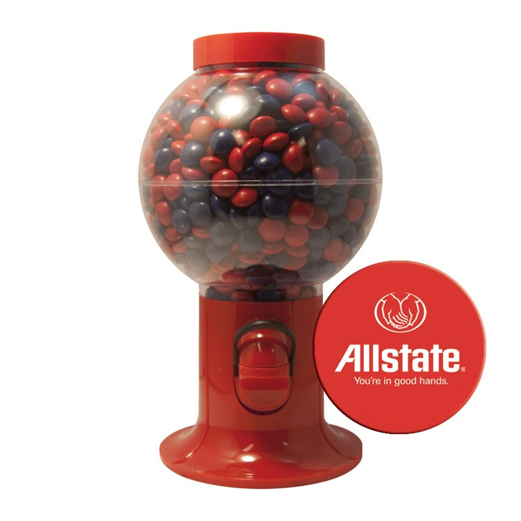 Red Gumball Machine with Corporate Color Chocolates