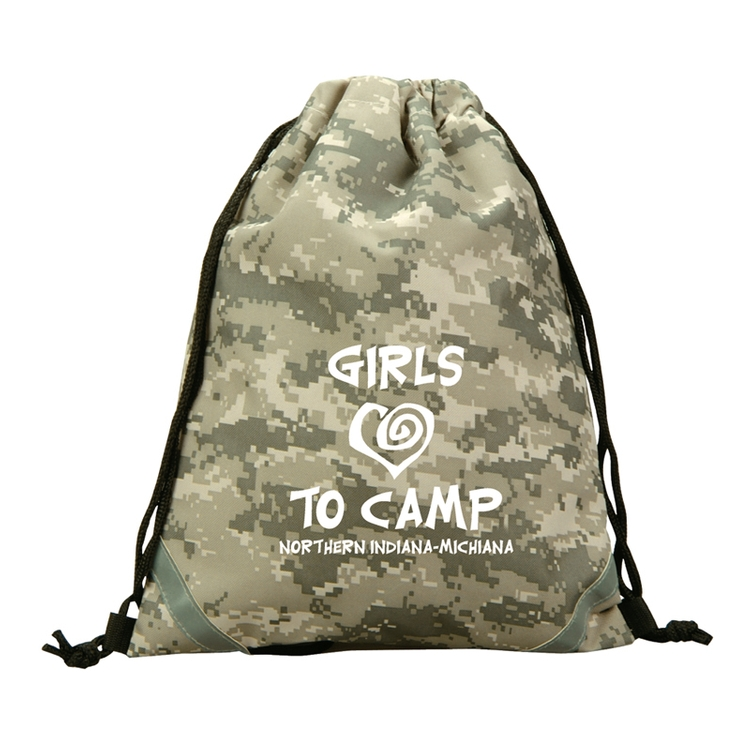 The Digital Camo Drawstring Backpack