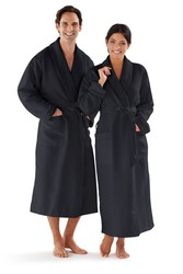 Microfiber Bathrobe with Shawl Collar and French Terry Knit Lining