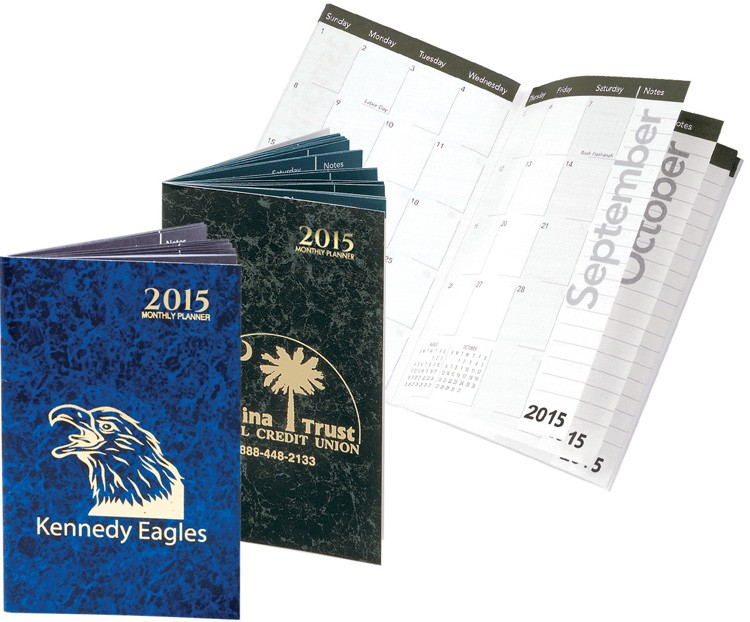 Monthly pocket Planners - Marble Elegance Monthly pocket Planners