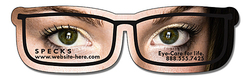 Magnet - Eyeglasses Shape (4.3125x1.25) - 20 Mil.