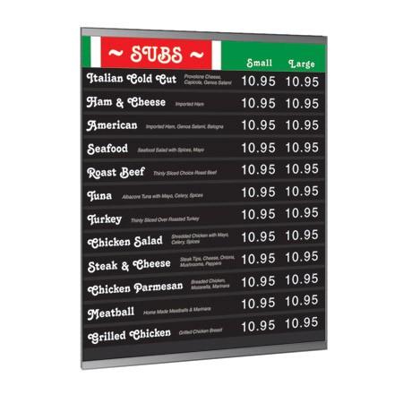 22w x 28h Wall Acrylic Policy Holder w/ Steel Backer