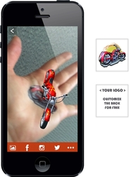 Augmented Reality Tattoos - Red Motorcycle
