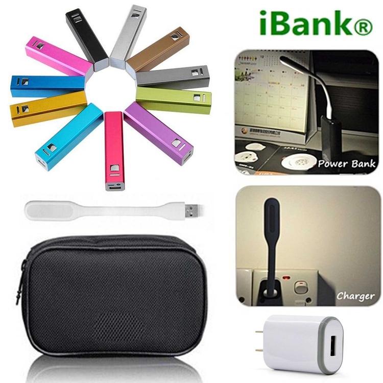 iBank® 2,600 mAh Power Bank + USB LED Bright Light