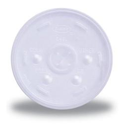 Translucent 8 oz Straw Slotted Lid