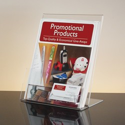 Acrylic Literature Holder with Business Card Holder - 8.5w x 11h