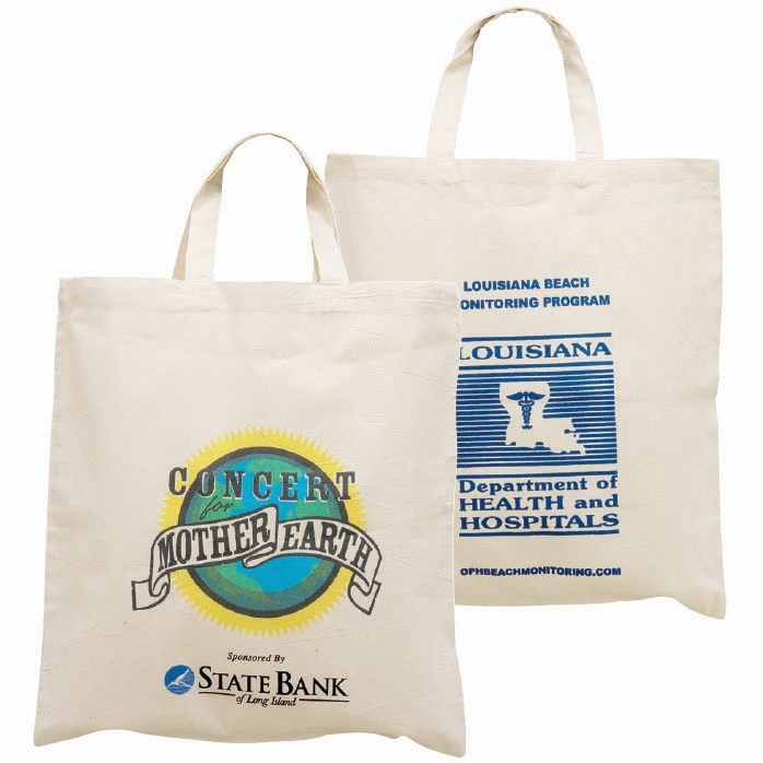 Short Handle 100% Cotton Eco Friendly Tote Bag