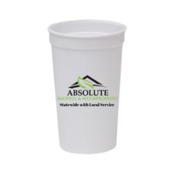 22 oz. Smooth Plastic Stadium Cup - Polypropylene