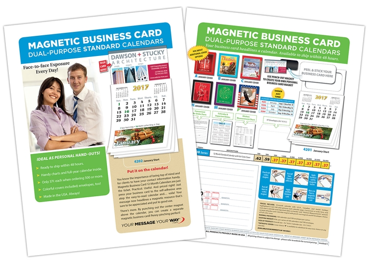 FREE Marketing Flyer - Standard 12-Month M.B.C. Calendars
